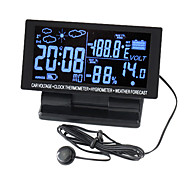 LCD Screen Digital Clock with Thermometer & Hygrometer