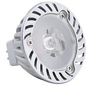 Spot Blanc Chaud MR16 GU5.3 3 W 1 LED Haute Puissance 180 LM DC 12 V