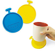 Blue / Yellow Silicone Coasters