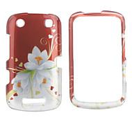 fashional fiore fondello stile e la struttura del paraurti per BlackBerry 9380 (red)