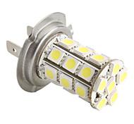 h7 5050 SMD 27 led 1.44w 1300mA lampadina bianca per auto (12V dc)