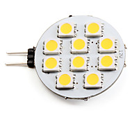 G4 1.5 W 10 SMD 5050 90 LM Warm White Spot Lights DC 12 V
