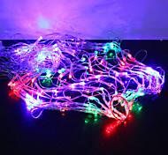 1m 120-led coloré 8 modes étincelles en forme de toile d'araignée chaîne de fées lampe (220v)