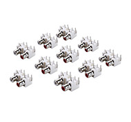 AV2-13 RCA Jack Socket for Electronics DIY Use (10 Pieces a Pack)
