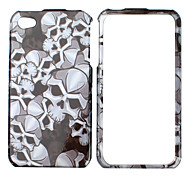 Cool Skull Pattern Bumper and Case for iPhone 4 and 4S (Black)
