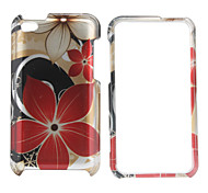 Protective Flowers Style Full Body Case for iPod Touch 4 (Red)