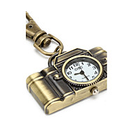 Retro Camera of Unisex Alloy Analog Quartz Keychain Watch (Bronze) Cool Watches Unique Watches