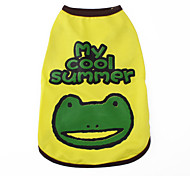 My Cool Summer Style Vest for Dogs (XS-XL, Yellow)