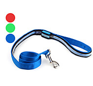 Dog Leashes LED Lights Red / Green / Blue Textile