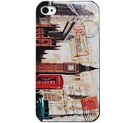 Vintage campanile caso di stile per iPhone 4 e 4s (beige)