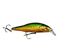Hard Bait Minnow 0.8 Meter Floating Plastic Fishing Lure 80MM 10G(1pc/Color Assorted)