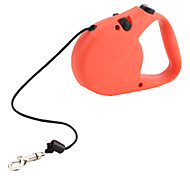 Dog Leash Adjustable/Retractable Red Genuine Leather