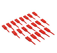 Red JL1454 Flat Hook On Instrument For Electronics DIY (20 Pieces a pack)