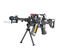 Super Power Gun Toy with Sound and Flashing Light (Black)