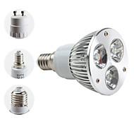 Focos MR16/PAR E14/E26/E27/GU10 W 3 LED de Alta Potencia 270 LM 6000K K Blanco Natural AC 85-265 V