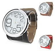 Reloj Pulsera de Mujer con Diseño de Números de Mecanismo Quartz Análogo y Correa de Cuero PU - Colores Surtidos