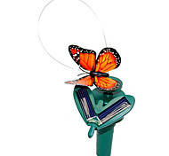 Solar Powered Flying Fluttering Monarch Butterfly for Garden Plants (Random Colors)