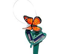 movido a energia solar vôo esvoaçante borboleta monarca para plantas de jardim (cores aleatórias)
