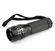 LED Flashlights / Handheld Flashlights LED 3 Mode Lumens Adjustable Focus Others AAA Others , Black Aluminum alloy