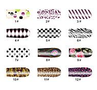 Punktmuster 14 Tipps Nail Art Sticker