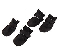 Breathable Mesh Style Nylon fastener tape Boots for Dogs (XS-XL, Black)