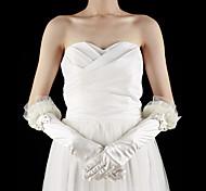 raso / pizzo mano lunghezza gomito con strass / prua guanti da sposa (più colori)