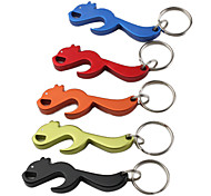 Squirrel Shaped Bottle Opener Keychain (Random Color)