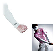 White Lycra Anti-UV Arm Sleeves for Golf, Cycling and Shooting