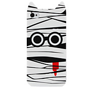 Cut Cartoon Pattern Hard Case for iPhone 4 and 4S (White)