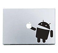 "Android Robot with Apple Mac Decal Skin Sticker Cover for 11"" 13"" 15"" MacBook Air Pro"