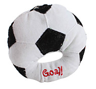 Flat Football Style Pet Squeaking Toy for Dogs (10 x 10cm)