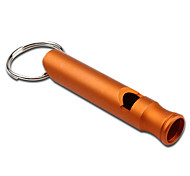 Concise Key Chain Whistle Large Size (Orange)