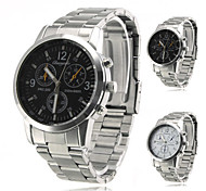 Men's Alloy Analog Quartz Wrist Watch (Silver)