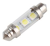 39mm 3 x 5050 SMD White LED Car Festoon Light