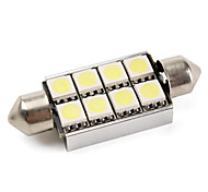 CANBUS Festoon 42mm 1.5W 8x5050 SMD White LED Car Signal Lights (DC 12V)