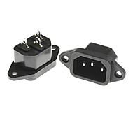2 piezas de amplificación de potencia de corriente alterna conectores hembra del tubo 15a para pc