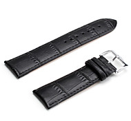 Unisex Genuine Leather Watch Strap 24MM(Black) Cool Watch Unique Watch Fashion Watch
