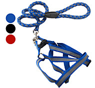 Dog Harness Reflective Red / Black / Blue Textile