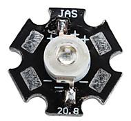 515-525nm Epistar 1W 3-5lm 350mAh púrpura bombilla de luz LED con placa de aluminio (3.2-3.4v)