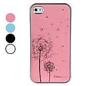 Custodia in alluminio, con strass, per iPhone 4 e 4S - Colori assortiti