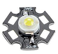 gênese 6000-6500k 1w 100-350mAh 110lm branco lâmpada LED com chapa de alumínio (3,0-3.4V)