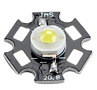 Genesis 6000-6500k 1W 100-110LM 350mAh White LED Light Bulb with Aluminum Plate (3.0-3.4V)