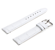 Unisex Genuine Leather Watch Strap 20MM(White)