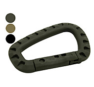 D Shape High Strength Plastic Mountaineering Buckle (3 Colors)