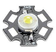 Bridgelux 6000-6500k 3w 170-190lm 700mAh bombilla LED de luz blanca con placa de aluminio (3.4-3.8V)