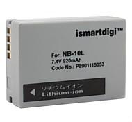 ismartdigi Ersatz-Akku NB-10L für Canon sx40hs, PowerShot G1 x