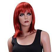 sem tampa de alta qualidade sintético médio reta partido perucas