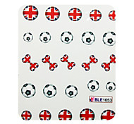 3 Pcs Half Cover Flag Style Nail Stickers