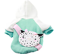 Green Hoodie with Piggy Bag for Dogs (XS-XL)