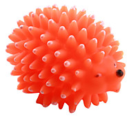 Hedgehog Squeaking Toy for Dogs (Orange,Yellow,Pink,8 x 6cm)